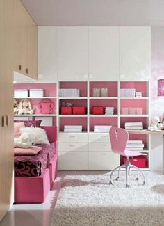 Cute idea for a teen girl's bedroom (maybe once my daughter outgrows her Ikea loft bed!).