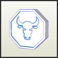 Jackie Chan Adventures - Ox Talisman Free Papercraft Download - http://www.papercraftsquare.com/jackie-chan-adventures-ox-talisman-free-papercraft-download.html