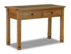 Arizona Rustic Oak Sofa Table W/ Slate Tiles Top by san carlos imports. $369.99