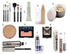 Everyday Makeup --- pretty good choices- minus benefit mascara, Dior show or too faced lash gasm is a much better choice!
