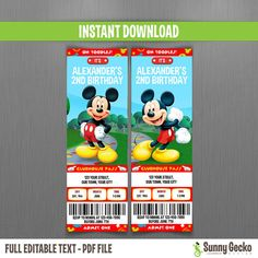 Vincent invitations https://www.etsy.com/listing/183367544/disney-mickey-mouse-clubhouse-birthday