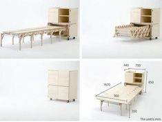 20 Bizarre Furniture Designs That Are GeniusDesigned by Nobuhiro Teshima, the expandable Mobile Dining unit is perfect for small spaces. It can expand and contract easily so it can accommodate from 2 to 8 guests. It's actually perfect for situations when unexpected guests come over and you have to find them a place to sit at the table.