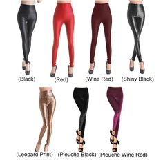 Sexy Womens Skinny Faux Leather & Pleuche High Waist Trousers Leggings Tights Pants #Unbranded#Discount#Winter#Spring#