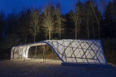 AA School of Architecture Design & Make - Timber Seasoning Shelter, Tutors: Martin Self, Studio Masters, Charley Brentnall, Kate Darby, Stewart Dodd