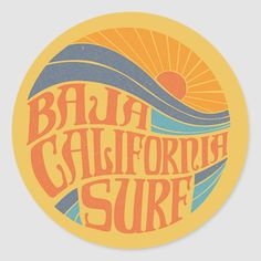 Surf Design, Surf Stickers, Custom Stickers, Vintage Surfing, California Logo, Skateboard, Surf Logo, Retro Surf, Surf Trip