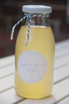 Limetten- Minze Sirup /  lime-mint sirup