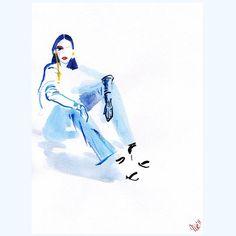I will stay here and wait for summer. Or...Dance till I feel warm enough! 💃👠 Saturday! #new #illustration #saturdaygoals #dancingshoes #saturdaynightfever #fashionillustration #illustrationoftheday #lookoftheday #fashionillustrator #illustrationartist #illustrationlady #instaillu #artandfashion #editorialillustration #fashiondrawing #blue  #watercolor #ilustracja #polskailustracja #rysunekzurnalowy #sobota #ilustracjamody #modaisztuka #karolinaniedzielska