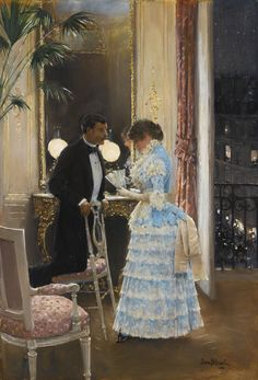 The Conversation ~ Jean Georges Béraud ~ (French: 1849-1935)