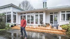 Robbie Rakete opens the doors to the Epsom home he shares with his family.