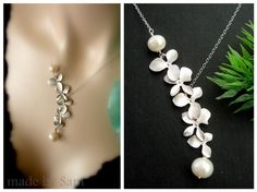 orchid necklace - my wedding flower. So dainty.