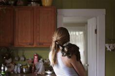 {some kitchen snuggles} ♥