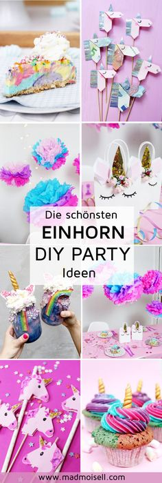 7 originelle Einhorn Party DIY Ideen zum Selbermachen: Einhorn Kuchen, Deko und Geschenke! Deine nächste Einhorn Geburtstagsparty steht an? Hier findest du alle DIY Ideen, die das Einhorn Herz begehrt!