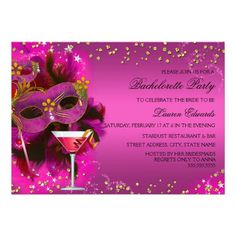 Shop Feather Mask Masquerade Bachelorette Party Invite created by Zizzago. Masquerade Party Invitations, Bachelorette Party Invitations, Masquerade Bachelorette Party, Colored Envelopes, White Envelopes, Sweet 16 Masquerade, Feather Mask, Custom Invitations, Mardi Gras