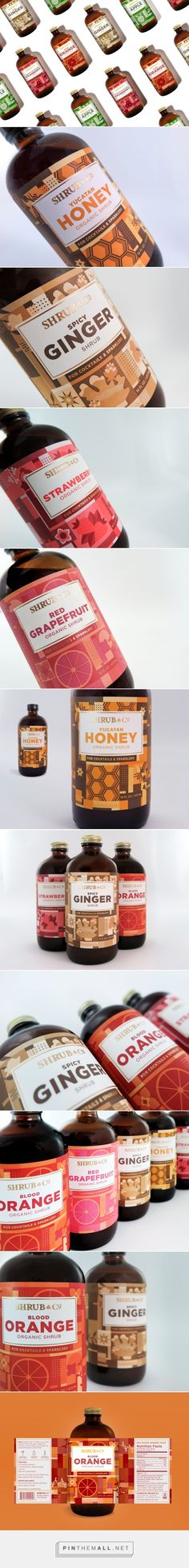 Shrub & Co Labels - Packaging of the World - Creative Package Design Gallery - http://www.packagingoftheworld.com/2017/06/shrub-co-labels.html