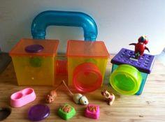 Vintage LPS Littlest Pet Shop Hamster Gerbil Mice Mouse Cage Tunnel Parrot Mixed Sets