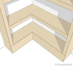 Corner bookshelf plans How To Make A Corner Shelving Unit Corner bookshelves and corner wall Wood Shelf Designs For Your Corner Showing 86 How to Build a Corner Bookcase Corner Shelving Unit, Corner Bookshelves, Toy Shelves, Corner Desk, Diy Bookcases, Bookshelf Design, Wall Shelves, Diy Wood Projects, Home Projects