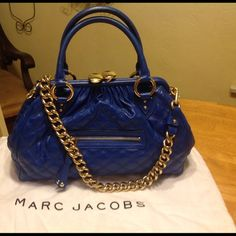 Beautiful blue authentic Marc Jacobs large stam This bag is available in my closet. See main listing. Marc Jacobs Bags Shoulder Bags