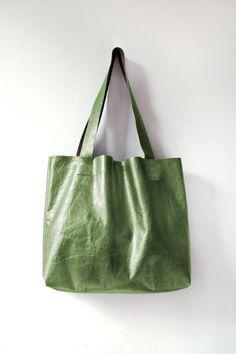 O L I V E Metallic Leather Tote Essential Tote by GiftShopBrooklyn.