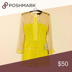 Yellow Crochet Romper NWT Details to come Pants Jumpsuits & Rompers
