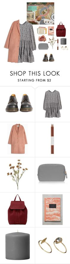 """""""Walk in the Park"""" by mooonfruit ❤ liked on Polyvore featuring Dr. Martens, WithChic, Acne Studios, Faber-Castell, Anya Hindmarch, Mansur Gavriel, Anthropologie and ASOS"""