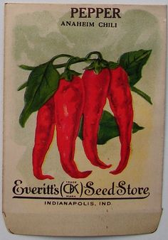EVERITT'S SEED STORE,  Pepper 82, Vintage Seed Packet
