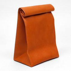 Fancy - Roll Top Leather Bag by Antiatoms