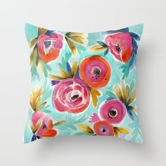 Buy Rain Flower Throw Pillow $20. Worldwide shipping available at Society6.com/crystalwalen Just one of millions of high quality products available.