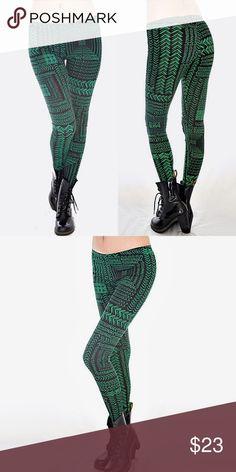 Urban Funky Casual Green, Black Leggings ❤️ BUNDLES  ❤️ DISCOUNTS  ❌ NO TRADES  ❌ NO Low balling!   • NWT • • MADE IN U.S.A. • 96% Polyester, 4% Spandex Pants Leggings