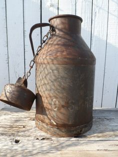 Vintage Primitive Metal Milk/Cream Can