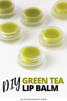 This DIY green tea lip balm is a treat for dry lips! With only 3 ingredients, this tea flavoured lip balm has a crisp green tea scent that will delight tea lovers! No fake fragrances – you just need fresh green tea! This homemade lip balm has a jelly texture thanks to a special combination of natural ingredients. And no, it's not shea butter or coconut oil! Get the easy, natural recipe, and learn about the benefits of green tea for your lips! #lipbalm #diylipbalm #greentea #alifeadjacent Homemade Lip Balm, Diy Lip Balm, Homemade Coconut Oil, Best Lip Balm, Sugar Scrub Homemade, Sugar Scrub Recipe, Homemade Skin Care, Homemade Beauty Products, Natural Recipe