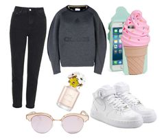 """Untitled #25"" by hannah-s-b ❤ liked on Polyvore featuring NIKE, Kate Spade, adidas Originals, Topshop, Le Specs and Marc Jacobs"