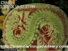 Fruit and Vegetable Carving - Siam Carving Academy on Channel News Asia