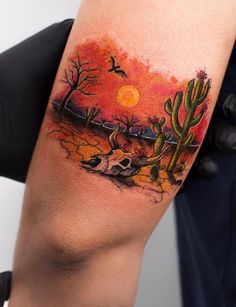 80 Artistic Tattoos by Robson Carvalho from Sao Paulo - TheTatt Texas Tattoos, Love Tattoos, Body Art Tattoos, Tatoos, Wüsten Tattoo, Male Tattoo, Desert Tattoo, Bull Skull Tattoos, Arizona Tattoo