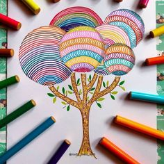 Easy Mandala Drawing, Mandala Art Lesson, Mandala Artwork, Art Drawings For Kids, Easy Drawings, Doodle Art Designs, Doodle Art Journals, Bubble Art, Indian Art Paintings