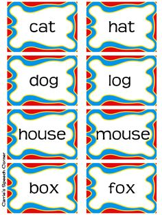 Worksheets Rhymes Words Examples free rhyming words and printable pictures cards match the carries speech corner rhyme time freebie