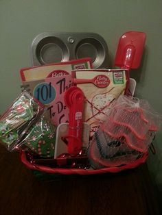 Baking Gift Basket - christmas gift basket idea - dollar store gift ideas