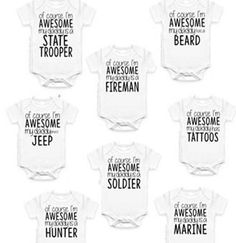 father's day onesies
