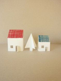 Paper Christmas Houses