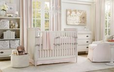baby girl nursery. Love the painting with her name. I might try this for Ella's room!