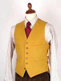 Yellow waistcoat, tattersall shirt