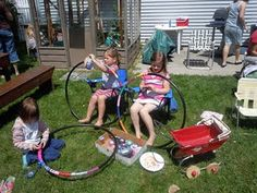 50's Party - Make your own hula-hoops for birthday party.