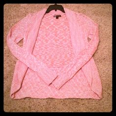 Pretty Pink Cardigan Like new. Slim fit, juniors large Sweaters Cardigans