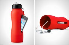 High Tech H20: 16 Inventive Water Bottles via Brit + Co. If libraries want to give out cool prizes for Teens (from incentive programs to Summer Reading Prizes), why not one that holds their phone too? I think this is pretty cool. Click link for other examples!