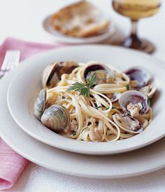 from epicurious linguine with clams and fresh herbs linguine with ...