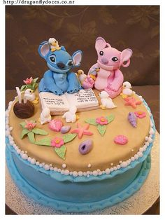 Stitch and Angel cake by Dragonfly Doces, via Flickr 5