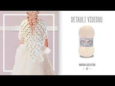 Gelin Şalının Detaylı Videosu/Detailed Version of Knitting Bride Shawl - YouTube