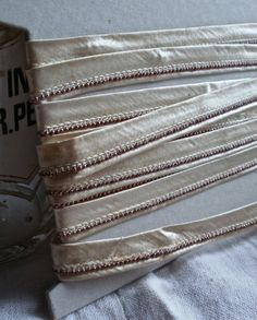 Exquisite Silk Trim Bias Tape French Art Deco Very by BrocanteArt, £46.20