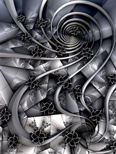 """Fantasy"" 3d fractal art Mandelbulb 3d Paul Griffitts http://www.frackxion.com"