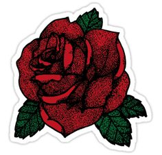"""""""TATTOO ROSE """" Stickers by LuckyGraphics 