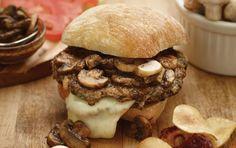 Muenster Stuffed Veal And Mushroom Burger #MightyMushrooms